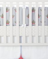 Serena & Lily Radish Embroidered Crib Bumper
