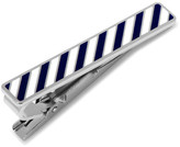 Cufflinks Inc. Varsity Stripes Navy and White Tie Clip