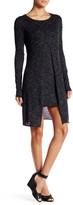 Dex Long Sleeve Split Front Sweater Dress