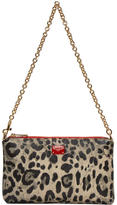 Dolce & Gabbana Beige and Black Leopard Micro Bag