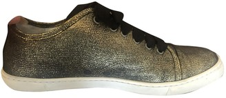 Lanvin Gold Leather Trainers