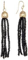 Canvas Glass Beaded Tassel Earrings