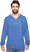 U.S. Polo Assn. Men's Big-Tall Solid V-Neck Sweater