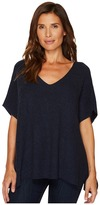 TWO by Vince Camuto - Short Sleeve Plaited Traveling Stitch Boxy Pullover Women's Short Sleeve Pullover