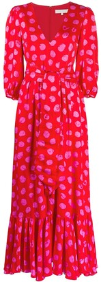 Borgo de Nor Ariel polka-dot print tie waist dress