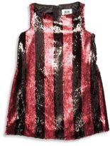 Milly Minis Toddler's, Little Girl's & Girl's Paillete Striped Angular Shift Dress