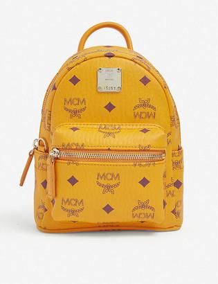 MCM Stark Visetos leather mini backpack
