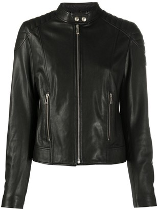 Belstaff Fitted Leather Biker Jacket