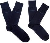 HUGO BOSS Two-pack Cotton-blend Socks - Navy