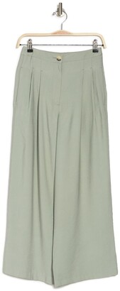 Topshop Sandy Pleated Wide Leg Crop Pants