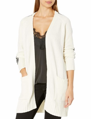 A|X Armani Exchange Women's Classic Cardigan Sweater with Pockets and No Closure