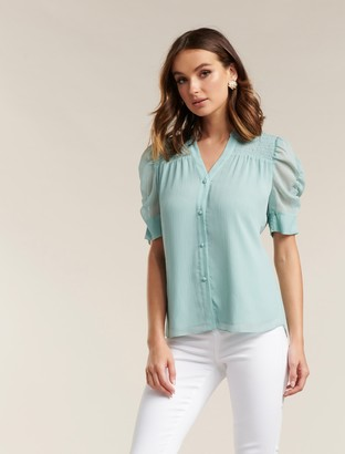 Ever New Jaiden Ruched Sleeve Top