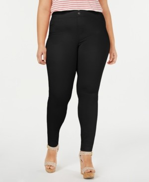 Hue Plus Size Original Smooth Denim Leggings, Created for Macy's