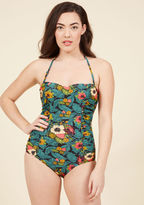Banned Pretty Much Paradise One-Piece Swimsuit in S