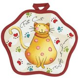 Kay Dee Designs Cotton Potholder, Cool Cats, 8-Inch by 8-Inch