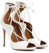 Aquazzura Tango 105 Leather Lace-up Sandals