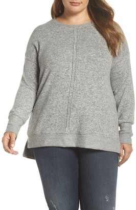 Gibson Side Slit Sweater Knit Tunic (Plus Size)