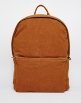 Asos Backpack In Faux Suede