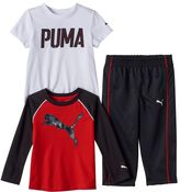 Puma Baby Boy Logo Long Sleeve & Short Sleeve Tees & Pants Set
