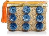 Milly Pom-Pom Straw Clutch