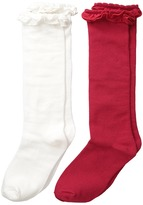 Jefferies Socks Ruffle Knee High Socks 2-Pair Pack Girls Shoes
