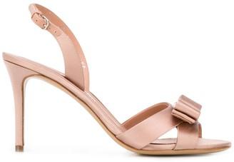 Salvatore Ferragamo Vara Bow satin sandals
