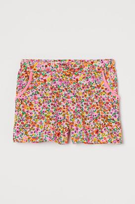 H&M Cotton Jersey Shorts - Pink