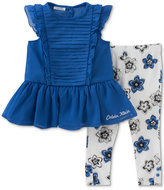Calvin Klein 2-Pc. Chiffon Tunic & Capri Leggings Set, Baby Girls (0-24 Months)