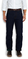 Classic Men's Traditional Fit Flannel Lined Denim Jeans-Faux Mink