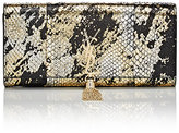 Saint Laurent Women's Monogram Kate Python Clutch