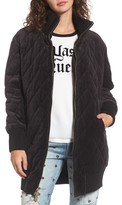Juicy Couture Women's Velour Quilted Puffer Coat