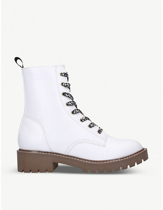 Kg Kurt Geiger Tilly leopard-print faux-leather ankle boots