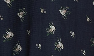 Lucy Paris Lace Panel Floral Midi Dress
