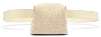 Osoi - Peanut Brot Leather And Canvas Belt Bag - Cream Multi