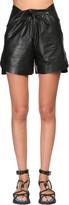 Sportmax Leather Shorts W/ Drawstring