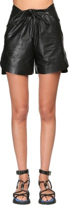 Sportmax Leather Shorts W/ Drawstring