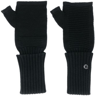 Stone Island Shadow Project Ribbed-Knit Fingerless Gloves