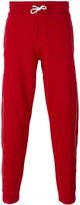MAISON KITSUNÉ stripe detail sweatpants - men - Cotton - M