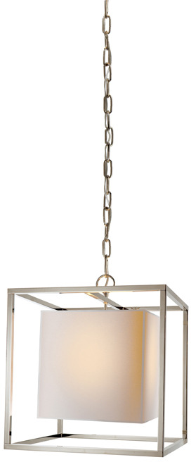 Eric Cohler SMALL CAGED LANTERN WITH PAPER SHADE