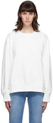 MM6 MAISON MARGIELA Off-White Embroidered Logo Sweatshirt