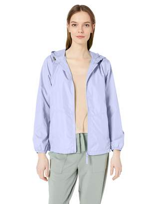 Big Chill Women's Lightweight Windbreaker Spring Jacket with Patterned Hood
