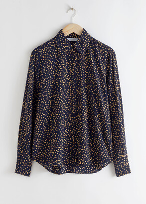 And other stories Dotted Button Up Shirt