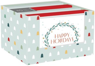 "Fringe Studio HOLIDAY CHEER VALUE NOTE CARD SET OF 40 - 5.5"" x 4.25"""