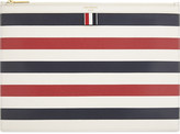 Thom Browne Medium leather striped print document wallet