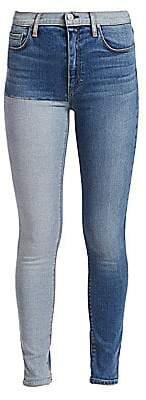 Hudson Jeans Women's Barbara High-Rise Super Skinny Two-Tone Jeans