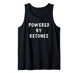 Powered By Ketones Funny Saying Ketogenic Low Carb Ketosis Tank Top