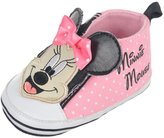 "Disney Minnie Mouse Baby Girls' ""Canvas Polka"" Hi-Top Sneaker Booties"