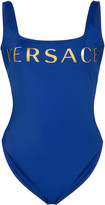 Versace Logo-Print Swimsuit