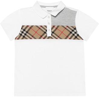 BURBERRY KIDS Vintage Check cotton polo shirt