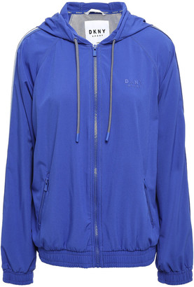 DKNY Striped Scuba Hooded Track Jacket